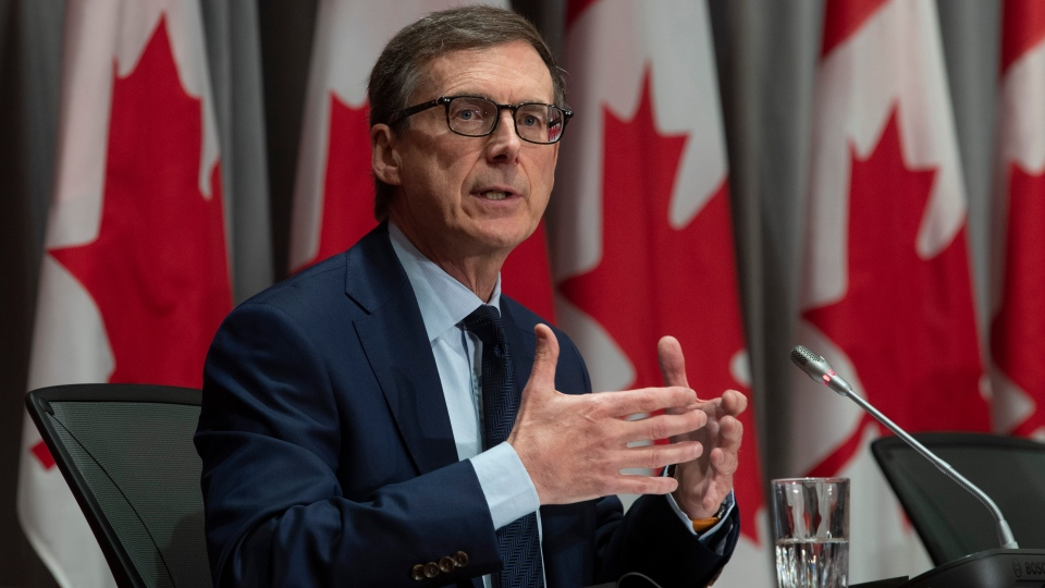 Bank of Canada Governor designate Tiff Macklem responds to a question during a news conference Friday May 1, 2020 in Ottawa. THE CANADIAN PRESS/Adrian Wyld