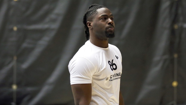 Linebacker Jordan Williams is shown in a handout photo from a CFL combine. (Chris Tanouye / CFL)