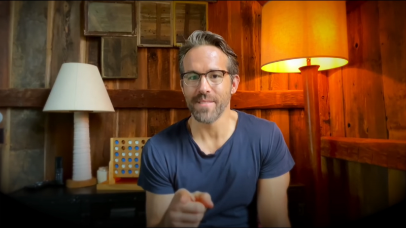 Ryan Reynolds is seen in a still image from video.