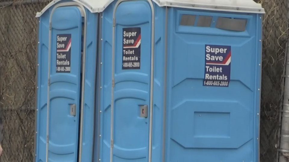 Port-a-potty in London, ONt.