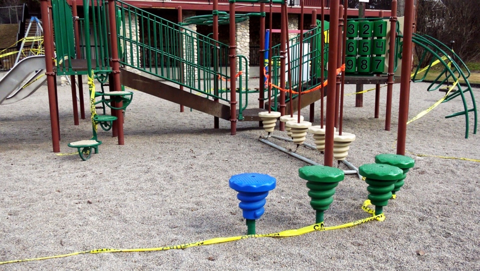 Playgrounds remain closed under the City of Calgary state of local emergency. The Alberta governments staged relaunch of some public activity has caused some confusion at the city level