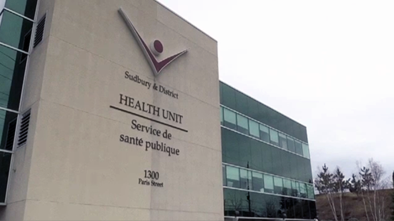 File Photo/Public Health Sudbury & Districts