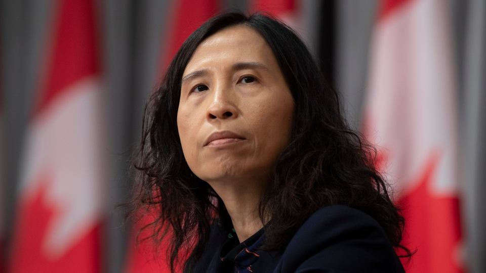 Chief Public Health Officer Theresa Tam listens to a question during a daily news conference Friday May 1, 2020 in Ottawa. THE CANADIAN PRESS/Adrian Wyld