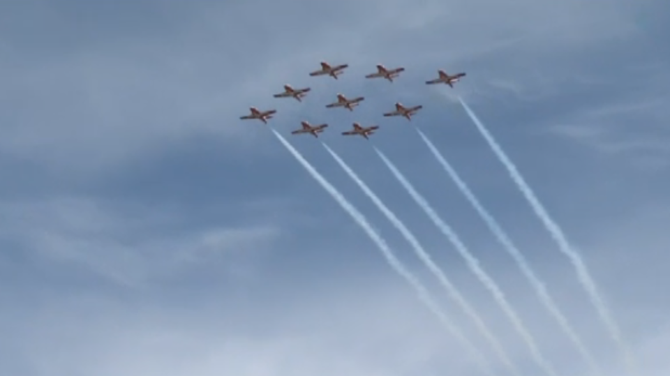 Snowbirds fly across Nova Scotia