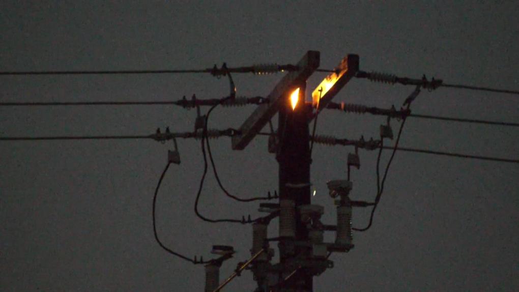 Power pole fire