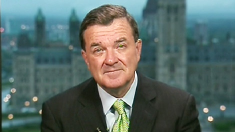 Finance Minister Jim Flaherty speaks on Canada AM from CTV's studios in Ottawa, Tuesday, Sept. 29, 2009.