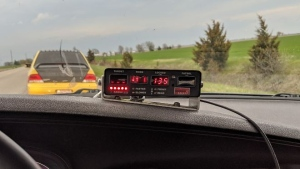 The officer says the man was driving 135km/hr in a posted 80km/hr zone in Chatham-Kent, Ont. (Courtesy Chatham-Kent police)