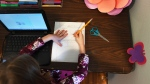 Some children struggle to do schoolwork at home. (RJ Sangosti/MediaNews Group/The Denver Post/Getty Images/CNN)