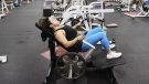 A person is seen at a fitness centre in this undated file photo. (The Canadian Press)