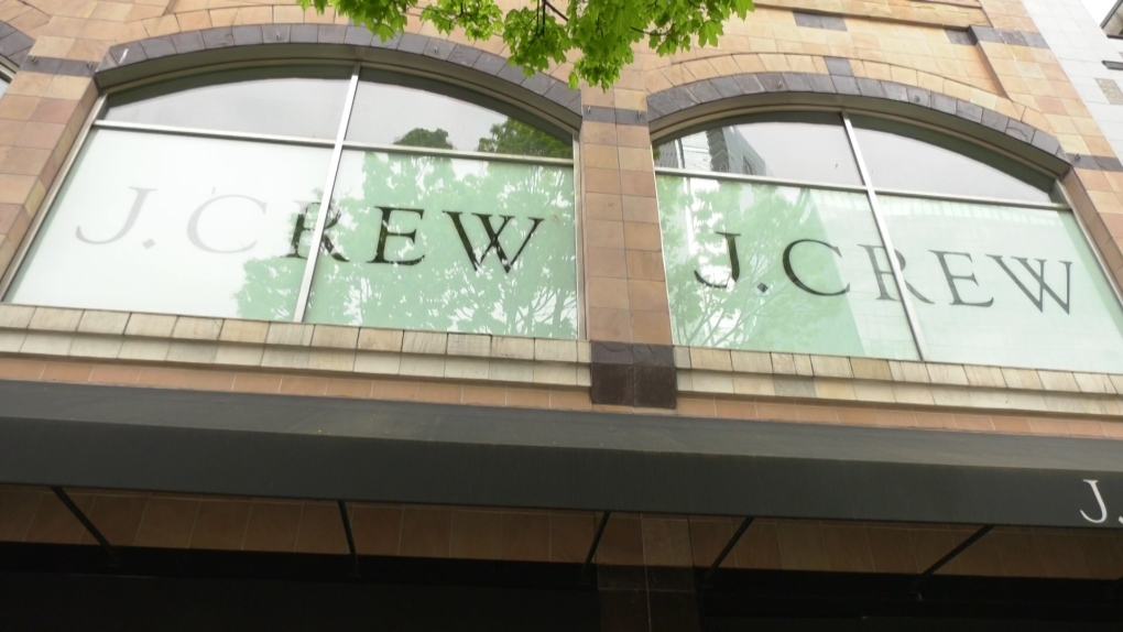 A J.Crew store, closed during the pandemic.