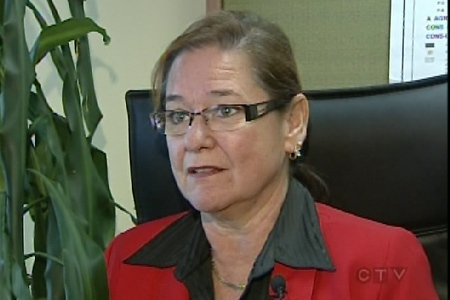 Incumbent mayor Sylvie St-Jean says she had nothing to do with the attack (Sept. 29, 2009)
