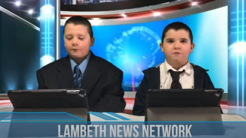 Lambeth News Network featuring anchors Alex and Max (YouTube)