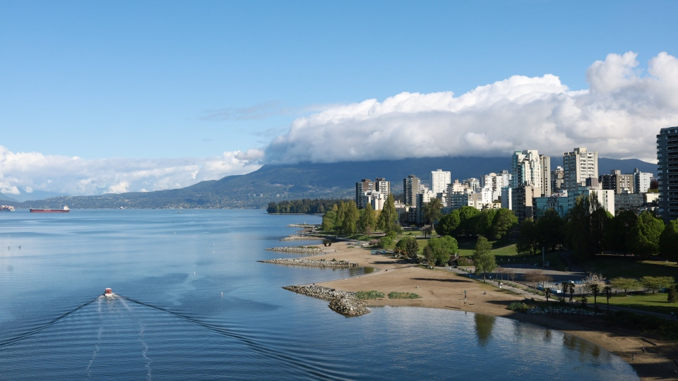 Vancouver's Sunset Beach is pictured in April 2020. (Submitted by Ako Loko)