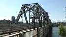 The Alexandra Bridge connects Ottawa and Gatineau over the Ottawa River.