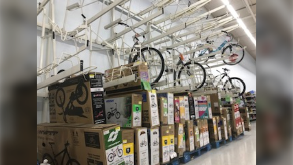 Some Edmonton shops and department stores are selling out of bikes during the pandemic. May 5, 2020. (CTV News Edmonton)