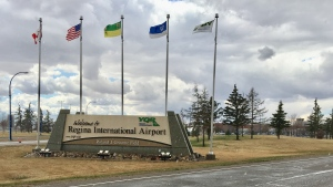 The Regina International Airport sign is seen in this file image. (Gareth Dillistone/CTV News)