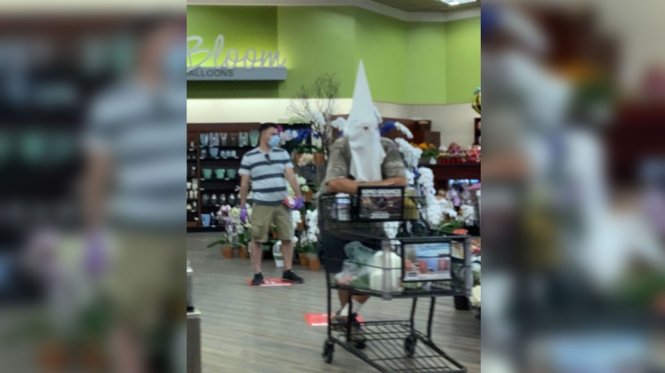 Hood in grocery store