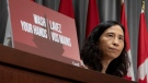 Chief Public Health Officer Theresa Tam listens to a question during a news conference in Ottawa, Tuesday, May 5, 2020. THE CANADIAN PRESS/Adrian Wyld