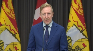New Brunswick Education Minister Dominic Cardy announces support for home learning on May 6, 2020.