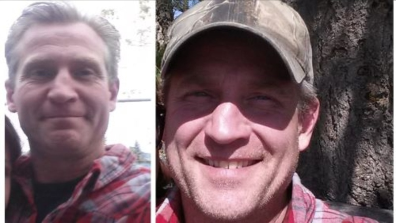 "Two photos of missing man John ""Wes"" Wesley Edwards are shown: (Comox Valley RCMP)"