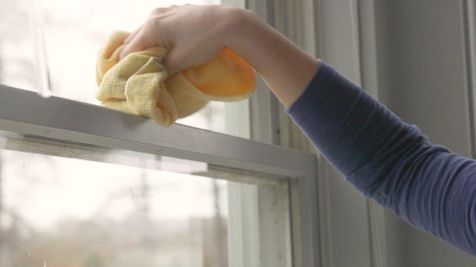 Clean your windows on an overcast day.