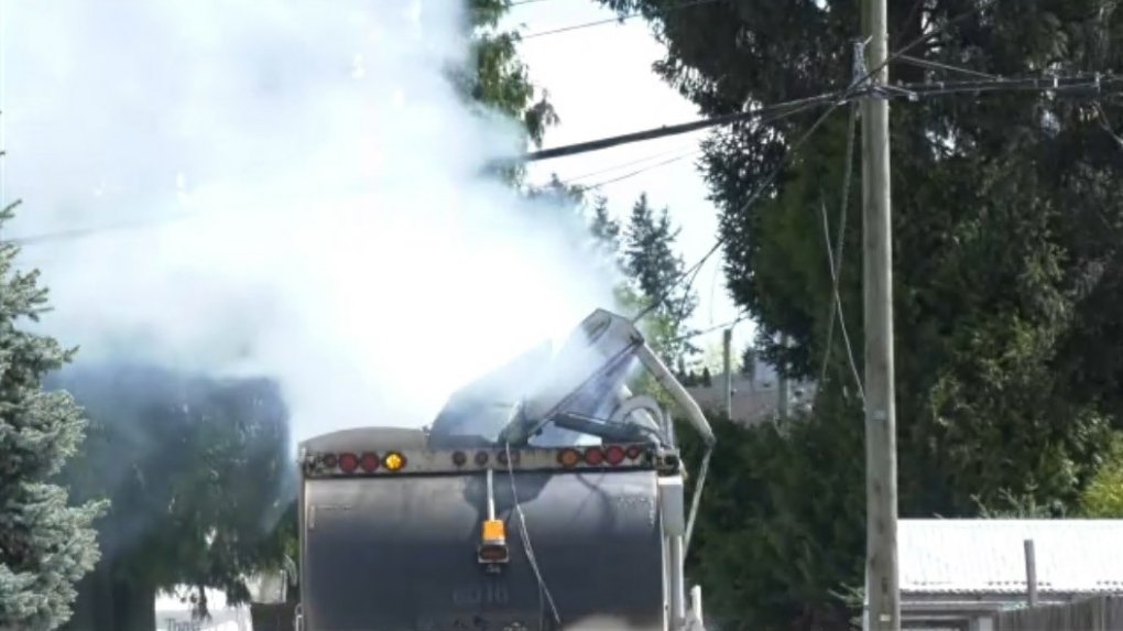 Burnaby garbage truck fire