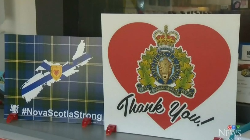 A print shop is donating the profits from their Nova Scotia Strong and Thank You RCMP signs to Feed Nova Scotia.