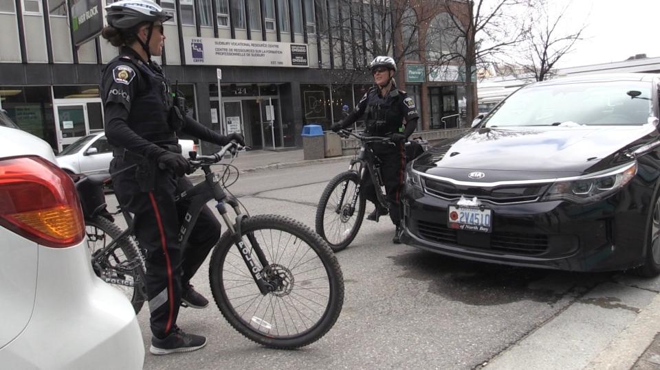 Police bicycle patrols hit the road in Sudbury