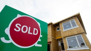 A sold sign is shown in a housing development in Beckwith, Ont., on Jan. 11, 2018. (Sean Kilpatrick / THE CANADIAN PRESS)