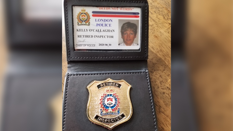 Retired Insp. Kelly O'Callaghan's badge