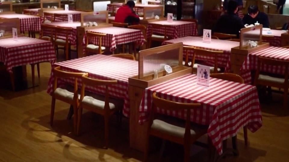 Restaurants reopening stock
