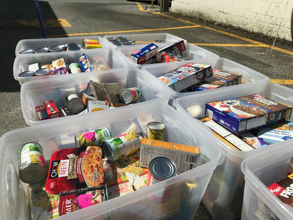 To date, the drive has raised more than $17,000 and collected more than 800 pounds of food. (CTV)