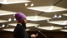 NDP leader Jagmeet Singh speaks during a press conference on Parliament Hill during the COVID-19 pandemic in Ottawa on Wednesday, May 6, 2020. THE CANADIAN PRESS/Sean Kilpatrick