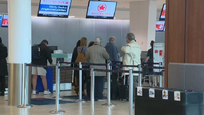 Halifax Stanfield International Airport normally sees about 11,000 passengers a day, but since the global pandemic has cancelled almost all air travel, it's now down to between 200 to 300 passengers a day.
