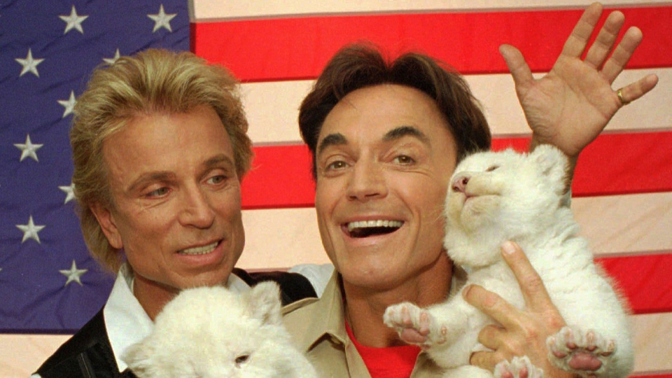 Siegfried and Roy in 1996