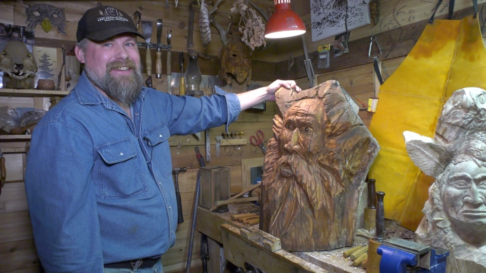 Edmonton artist Ryan Wispinski said a carving that was stolen from his home has been returned.