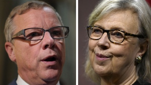 Elizabeth May and Brad Wall