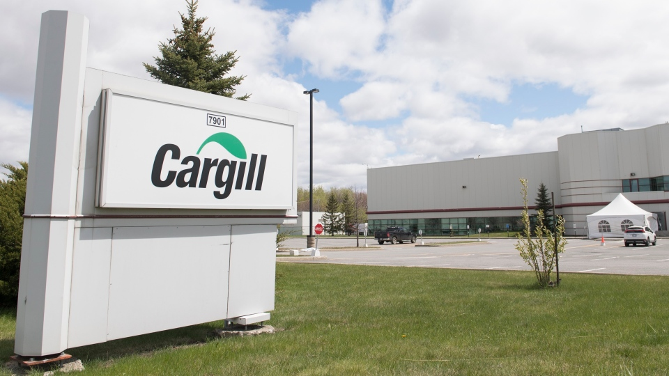 Cargil processing plant in Chambley, Que
