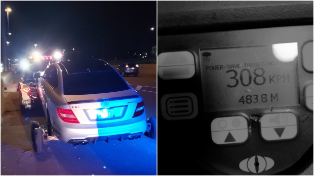 'Unbelievable': Young driver caught allegedly speeding 308 km/h on Ontario highway