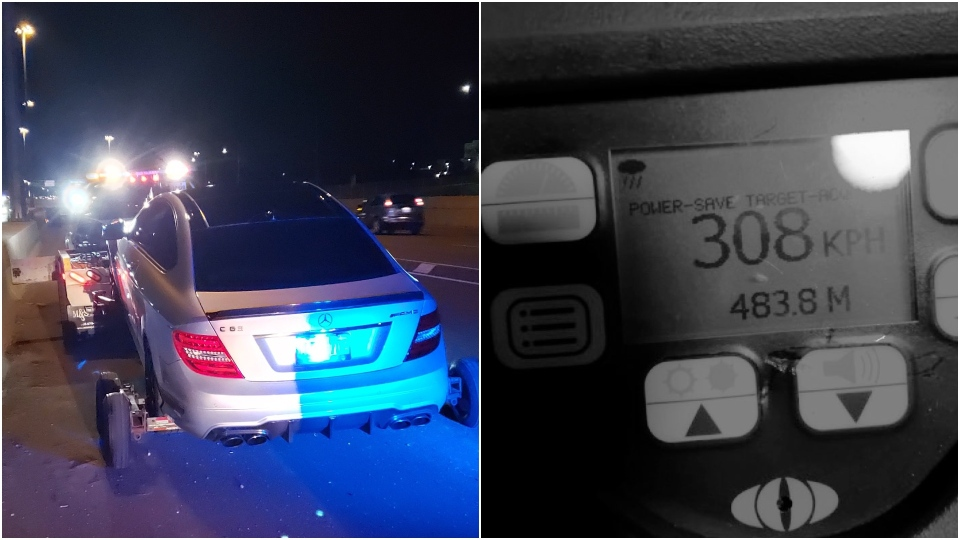 A 19-year-old driver has been charged after he was caught allegedly speeding at over 300 kilometres an hour. (OPP)