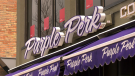 Alberta Health Services says Purple Perk customers were drinking coffee on the shop's patio, a violation of the province's COVID-19 rules.