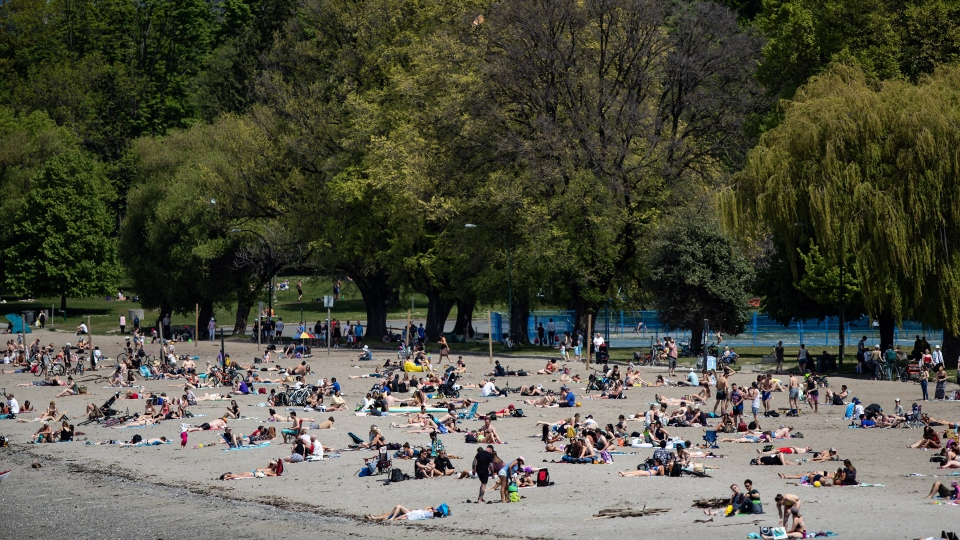 Crowds flock to beaches as weather warms up