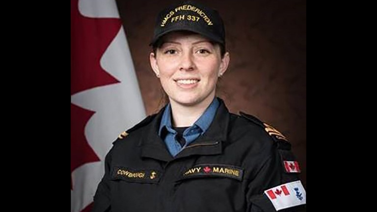 Sub-Lt. Abbigail Cowbrough is shown in a Department of National Defence handout photo. THE CANADIAN PRESS/HO-Department of National Defence