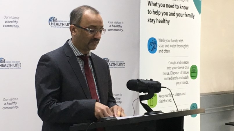 Windsor-Essex medical officer of health Dr. Wajid Ahmed in Windsor, Ont., on Monday, May 11, 2020. (Bob Bellacicco / CTV Windsor)