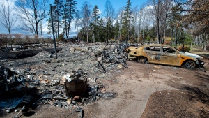 A fire-destroyed property registered to Gabriel Wortman at 200 Portapique Beach Road is seen in Portapique, N.S. on Friday, May 8, 2020. THE CANADIAN PRESS/Andrew Vaughan