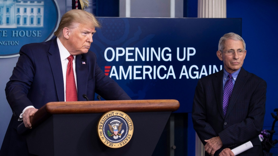 U.S. President Donald Trump and Dr. Anthony Fauci