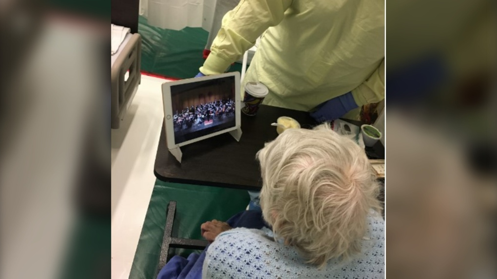 Windsor field hospital iPads