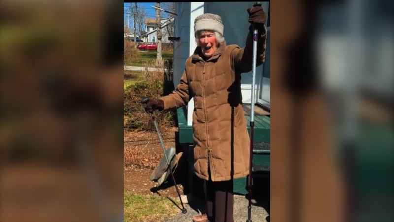 Centenarian Joy Saunders won the hearts of Maritimers earlier this month when a video posted on social media showcased her sense of humour and big heart.