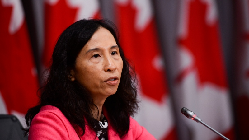 Dr. Theresa Tam, Canada's Chief Public Health Officer, takes part in a press conference on Parliament Hill during the COVID-19 pandemic in Ottawa on Tuesday, May 12, 2020. THE CANADIAN PRESS/Sean Kilpatrick