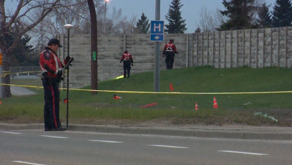 52nd Street N.E. was closed between Rundlehorn Drive and Madigan Drive during the police investigation into Wednesday morning's fatal hit-and-run